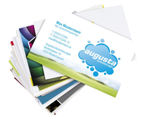 Visitenkarten Qualitativ Hochwertige Drucksorten Aller Art