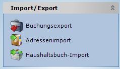 Prosaldo Money Import Export Funktionen