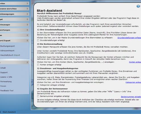 Prosaldo Money Start Assistent