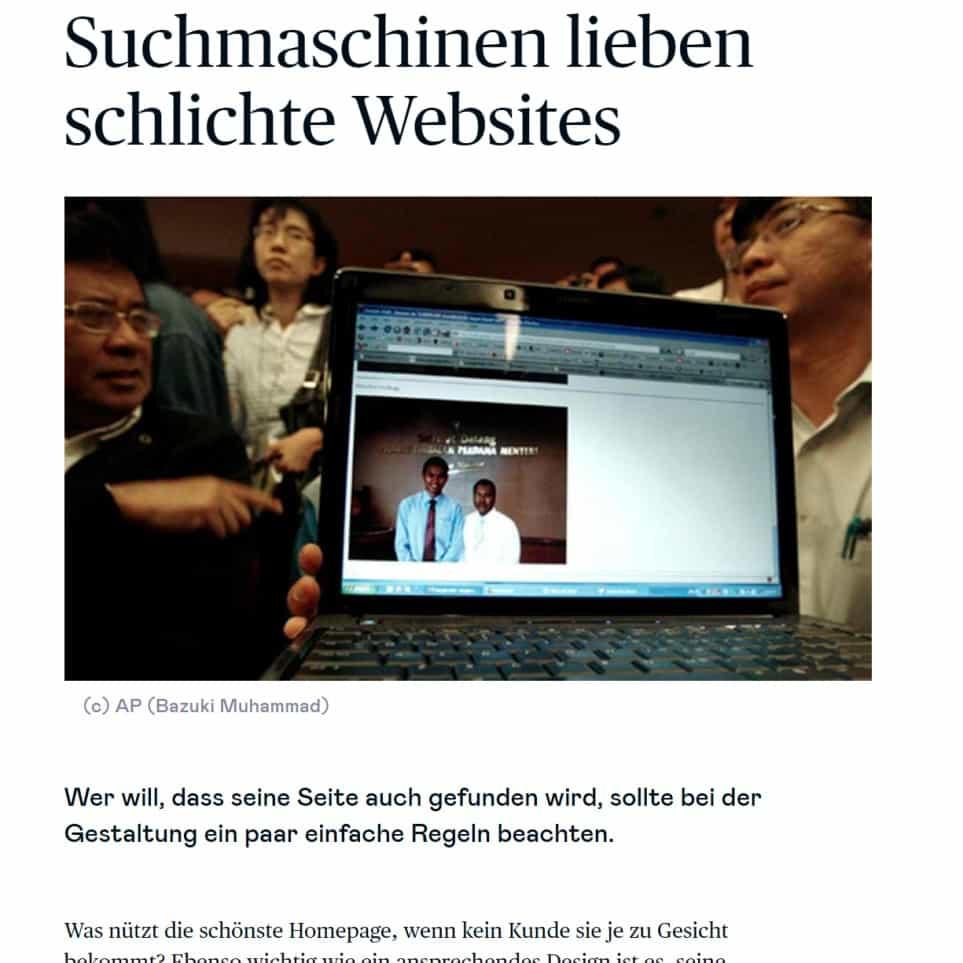 Suchmaschinenlieben schlichte Websites